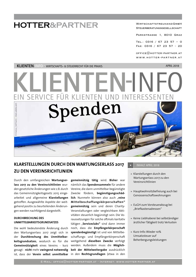 klienteninfo april 2018