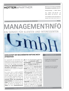 Cover Managementinfo Nr.38 September 2014