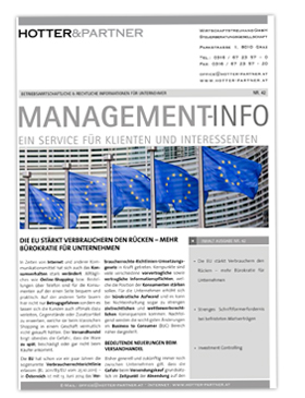 Cover Managementinfo Nr.42 September 2014